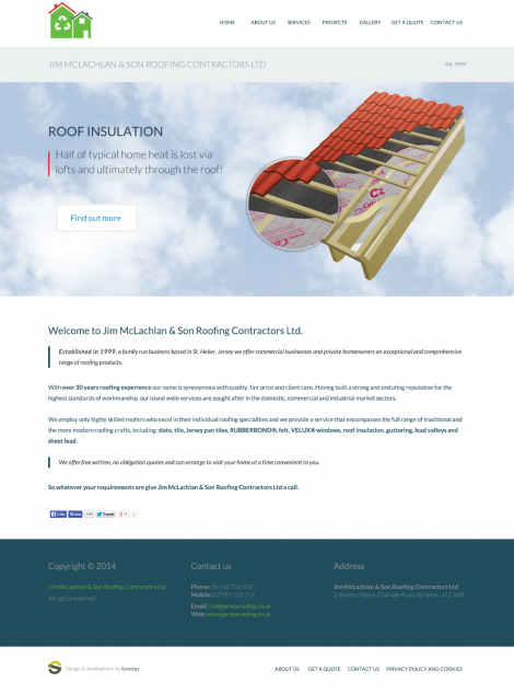 Jim McLachlan & Son Roofing Contractors Ltd web design & development