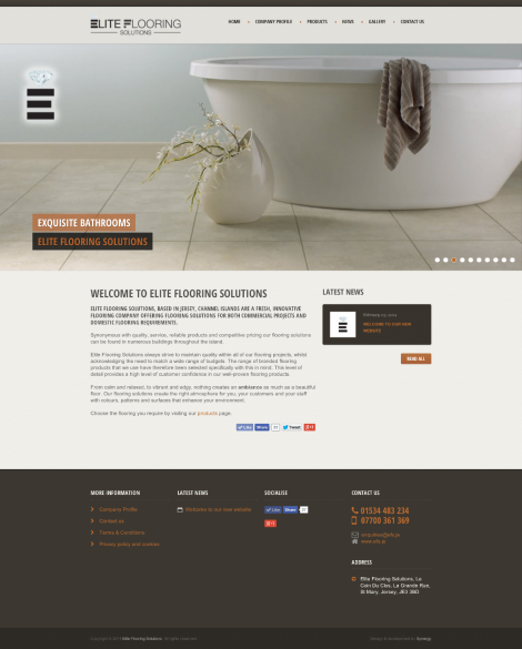 Elite Flooring Solutions web design & development